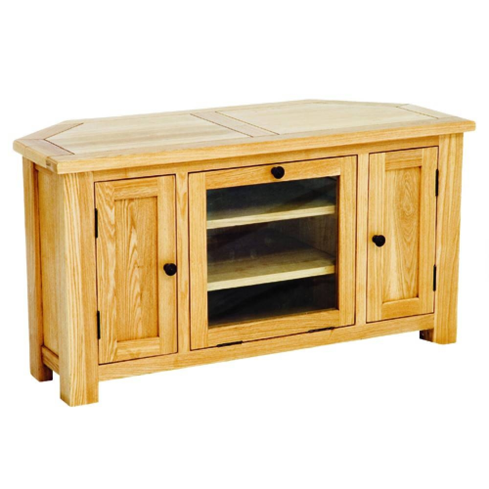 Solid Wood Plum Compact Corner Tv Cabinet | Halo Living Intended For Wooden Corner Tv Units (View 6 of 15)