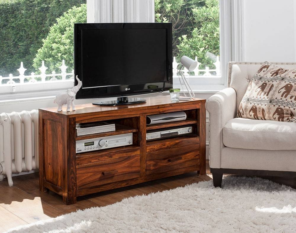 Solid Wood Tv Console | Casa Bella Handcrafted Sheesham Furniture intended for Sheesham Tv Stands (Image 13 of 15)