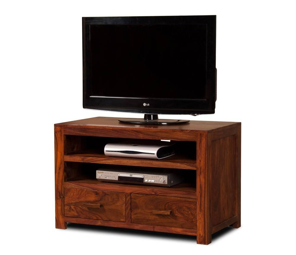 Solid Wood Tv Console - Medium | Casa Bella Sheesham Furniture in Sheesham Tv Stands (Image 12 of 15)