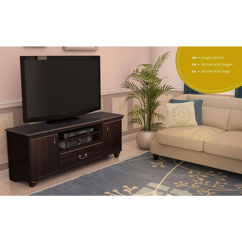 South Shore Noble 50 Disk Capacity Tv Stand For Tvs Up To 60'' In Intended For Mahogany Tv Stands (View 11 of 15)