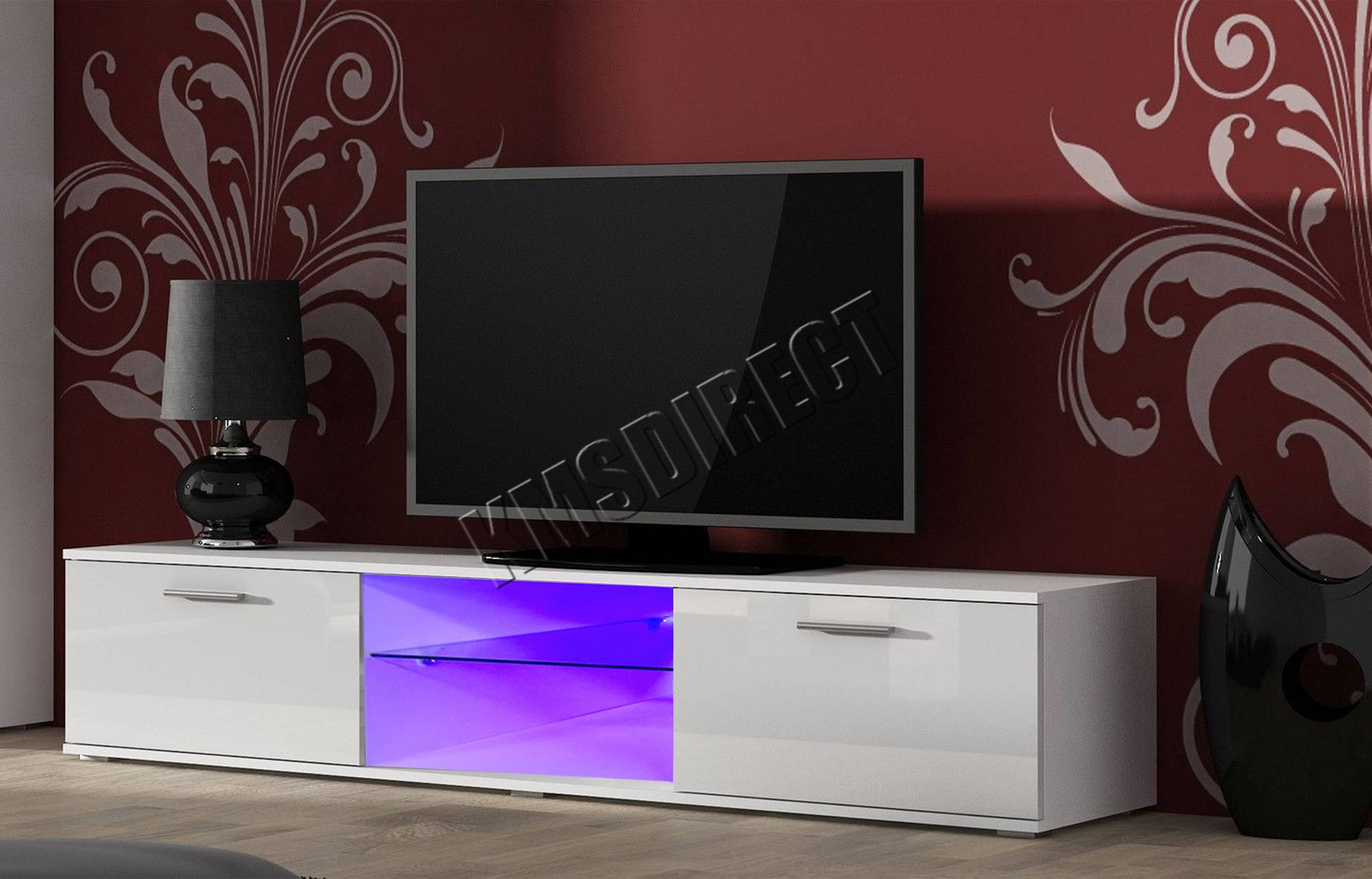 Spare Repair Modern High Gloss Matt Tv Cabinet Unit Stand Led intended for High Gloss White Tv Cabinets (Image 11 of 15)