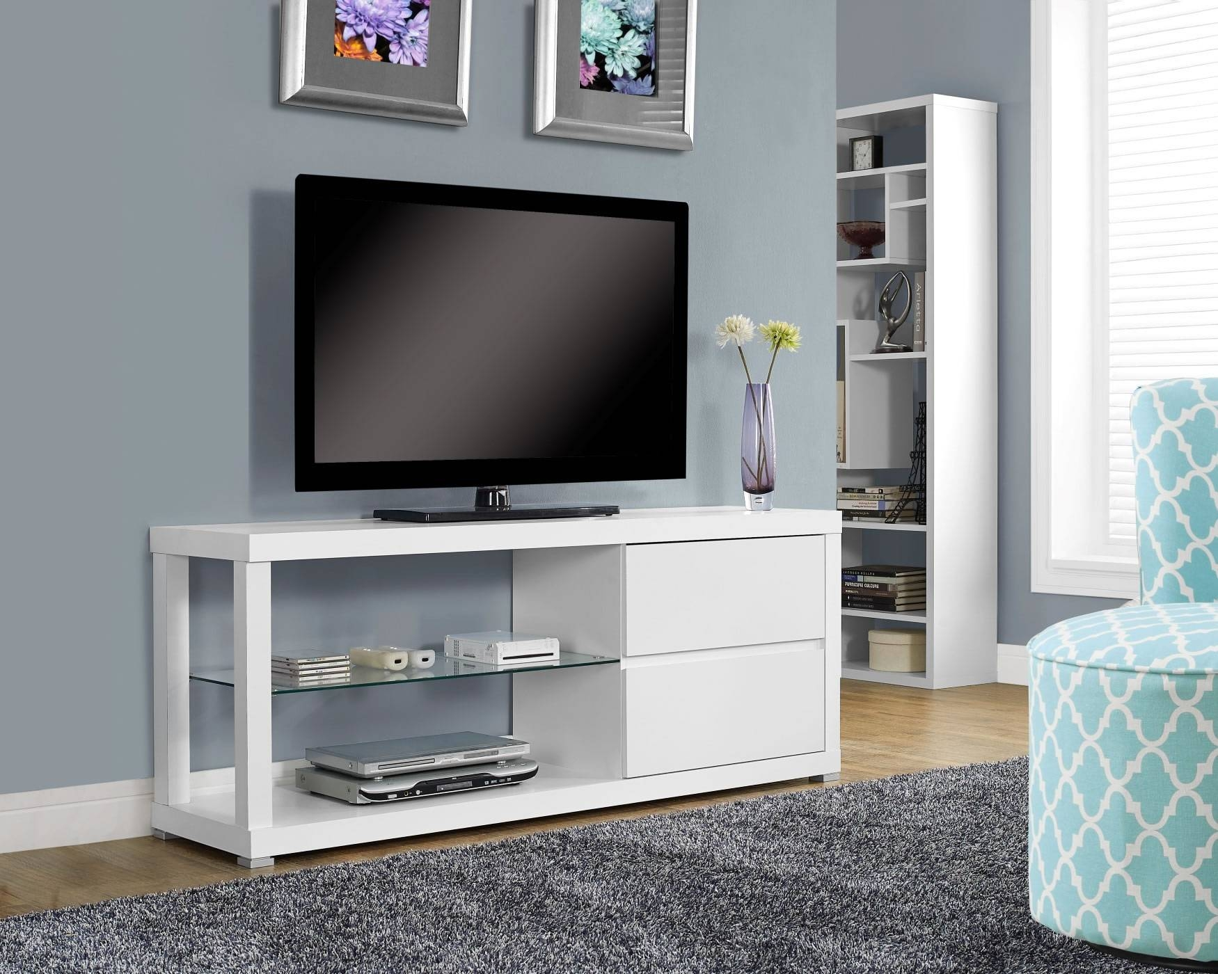 Spec Designsmonarch Specialties Norwich Tv Stand White - I inside Long White Tv Stands (Image 13 of 15)