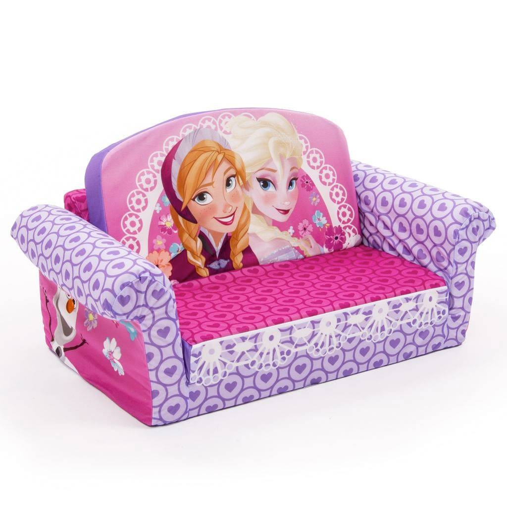 Spin Master - Marshmallow Furniture Flip Open Sofa Disney Frozen in Flip Open Kids Sofas (Image 12 of 15)