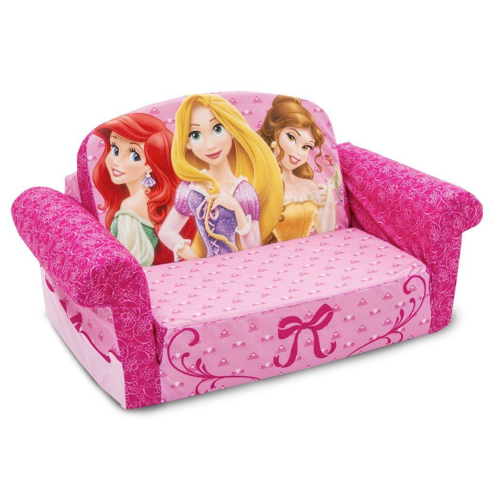 Spin Master   Marshmallow Furniture Flip Open Sofa Disney Princess Intended For Disney Sofas (Photo 3 of 15)