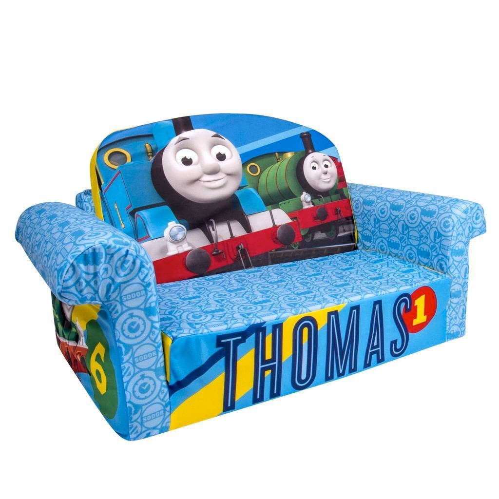 Spin Master - Marshmallow Furniture Flip Open Sofa Thomas The Tank with Flip Open Kids Sofas (Image 15 of 15)
