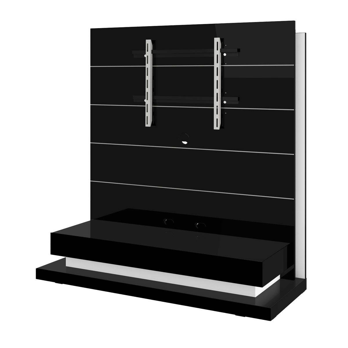 Standing Panorama Lux Black Tv Stand with Panorama Tv Stands (Image 12 of 16)