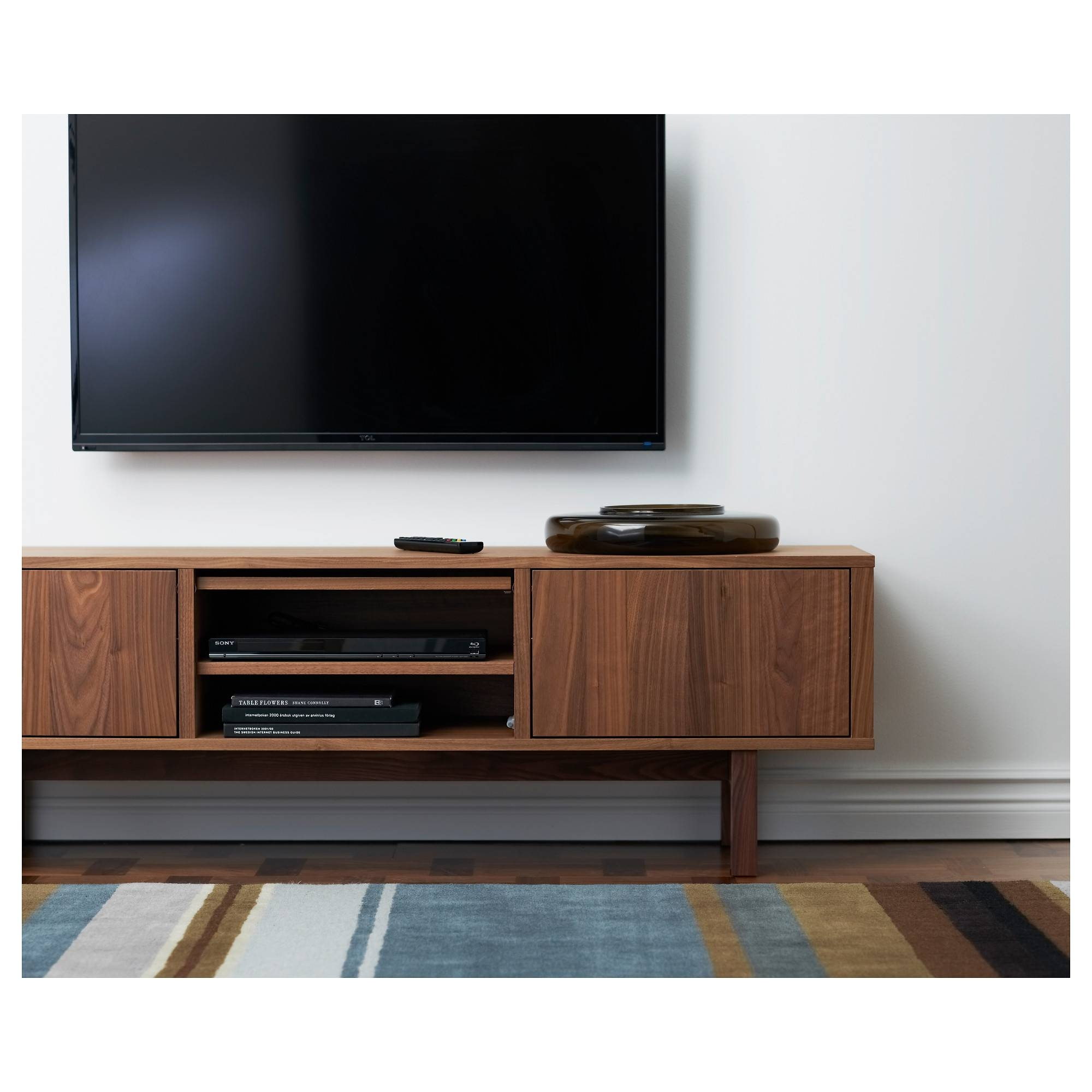 Stockholm Tv Bench Walnut Veneer 160x40 Cm – Ikea Pertaining To Walnut Tv Stands (View 2 of 15)