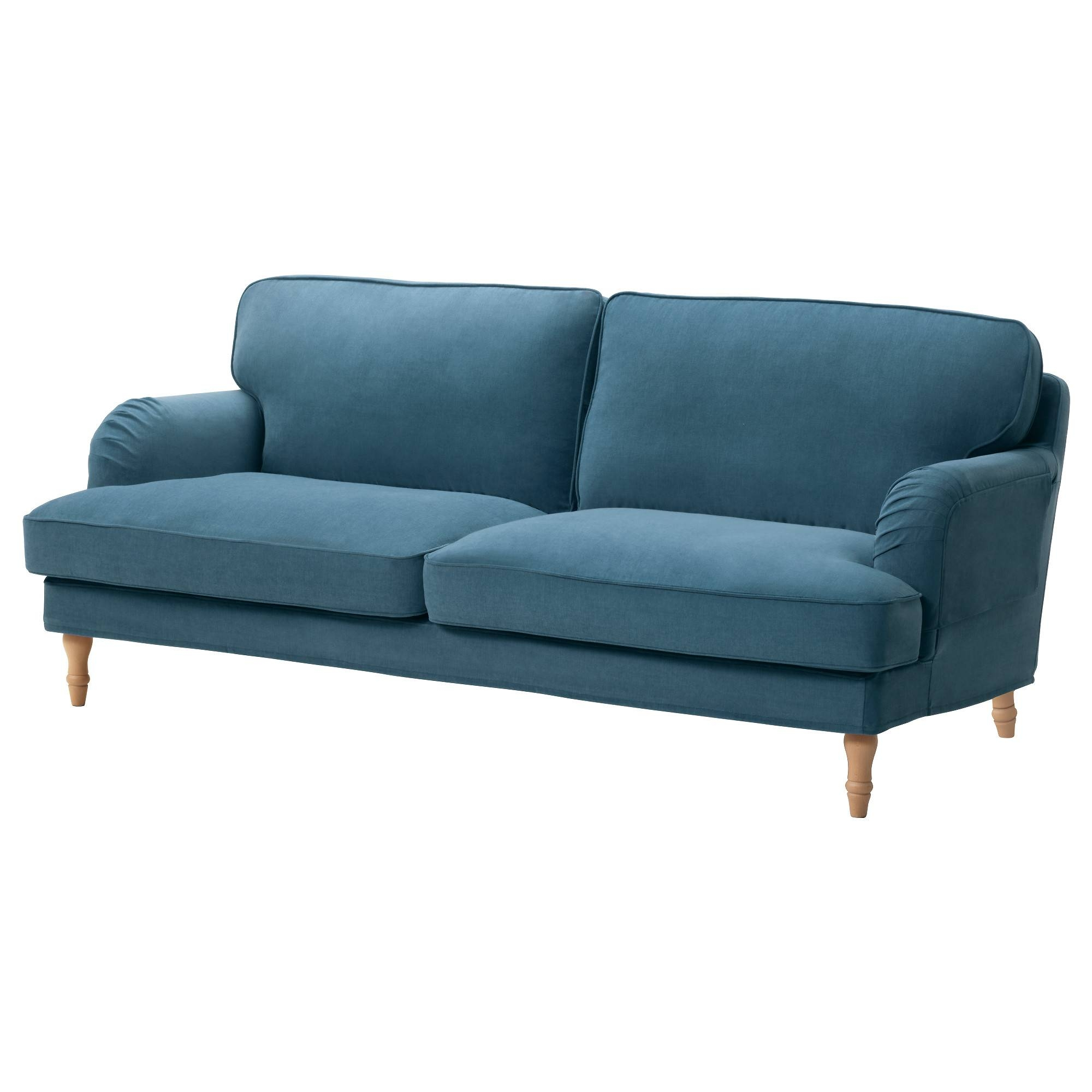 Stocksund Sofa - Ljungen Blue, Light Brown - Ikea intended for Sofas (Image 13 of 15)