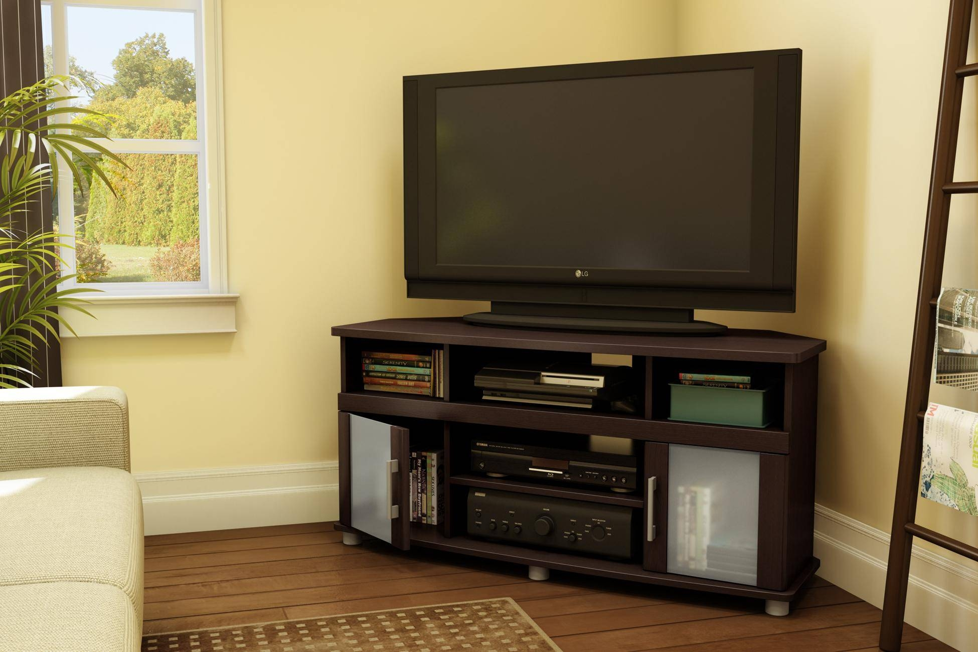 Storage Cabinets Ideas : Corner Tv Stand Glass Choosing The Sizes Within Corner Tv Cabinets With Glass Doors (View 12 of 15)