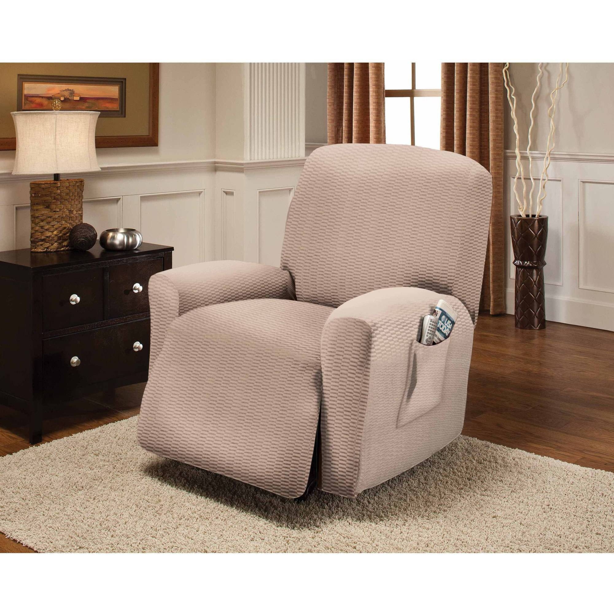 Stretch Sensations Raise The Bar Recliner Slipcover – Walmart With Regard To Stretch Covers For Recliners (View 13 of 15)