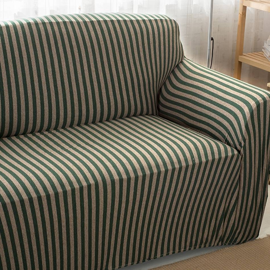 Stripe Sofa Slipcover Promotion-Shop For Promotional Stripe Sofa regarding Striped Sofa Slipcovers (Image 10 of 15)