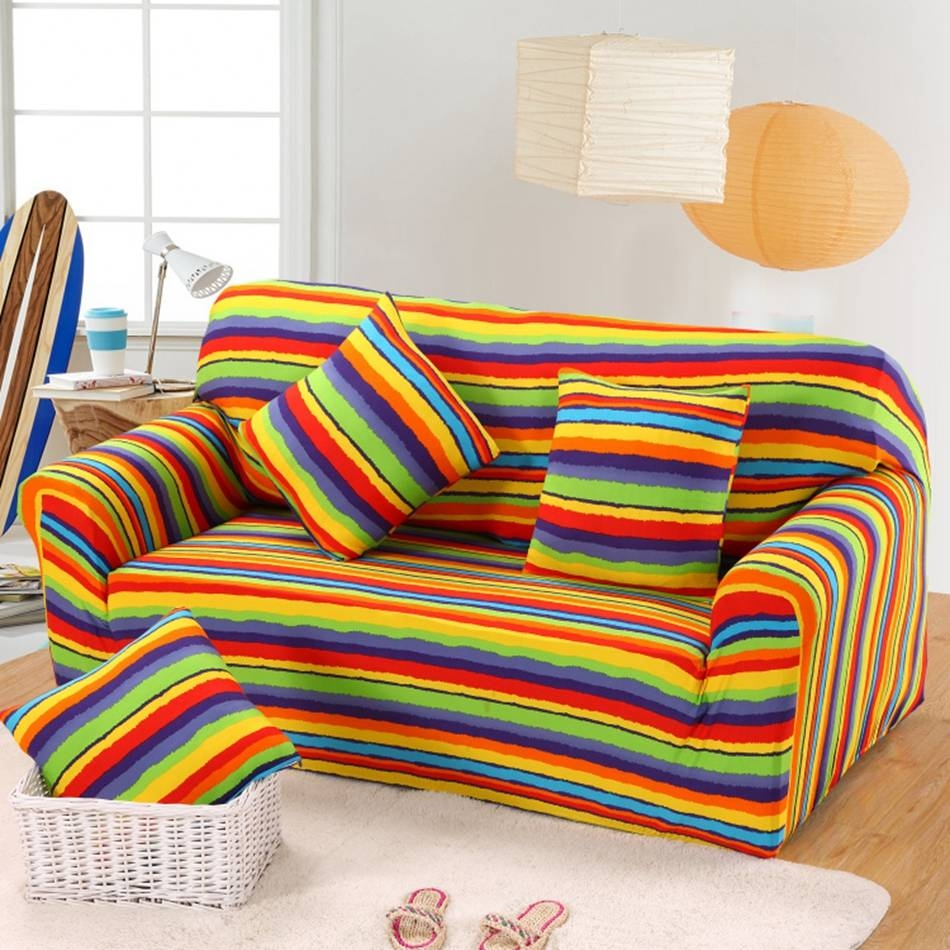 Striped Sofa Slipcovers | Centerfieldbar throughout Striped Sofa Slipcovers (Image 12 of 15)