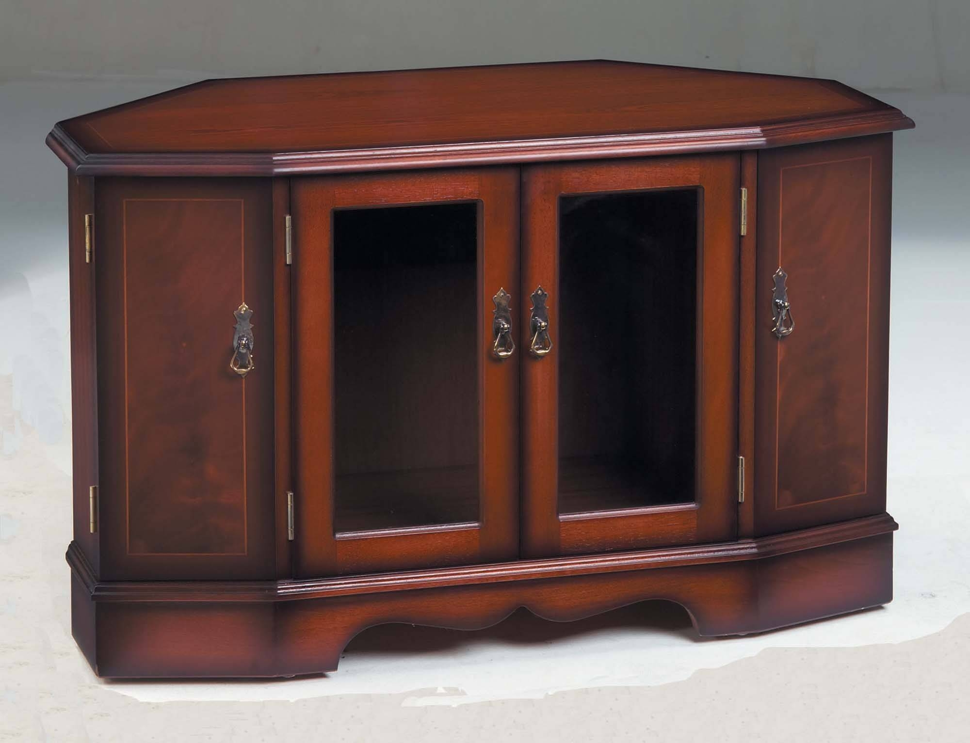Strongbow Mahogany 1037 Corner Tv Cabinet | Tr Hayes - Furniture for Mahogany Tv Stands (Image 14 of 15)