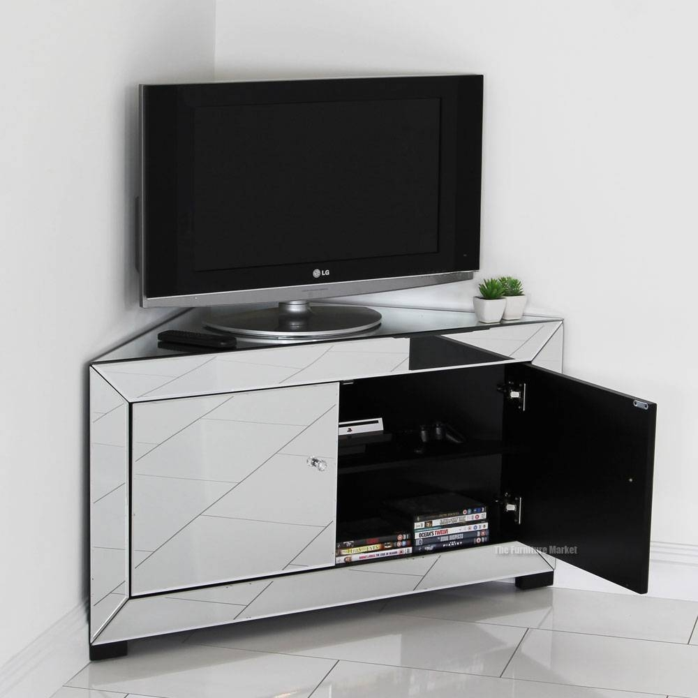 Stylish Corner Tv Stands For Flat Screens — Kelly Home Decor With Regard To Stylish Tv Stands (View 8 of 15)