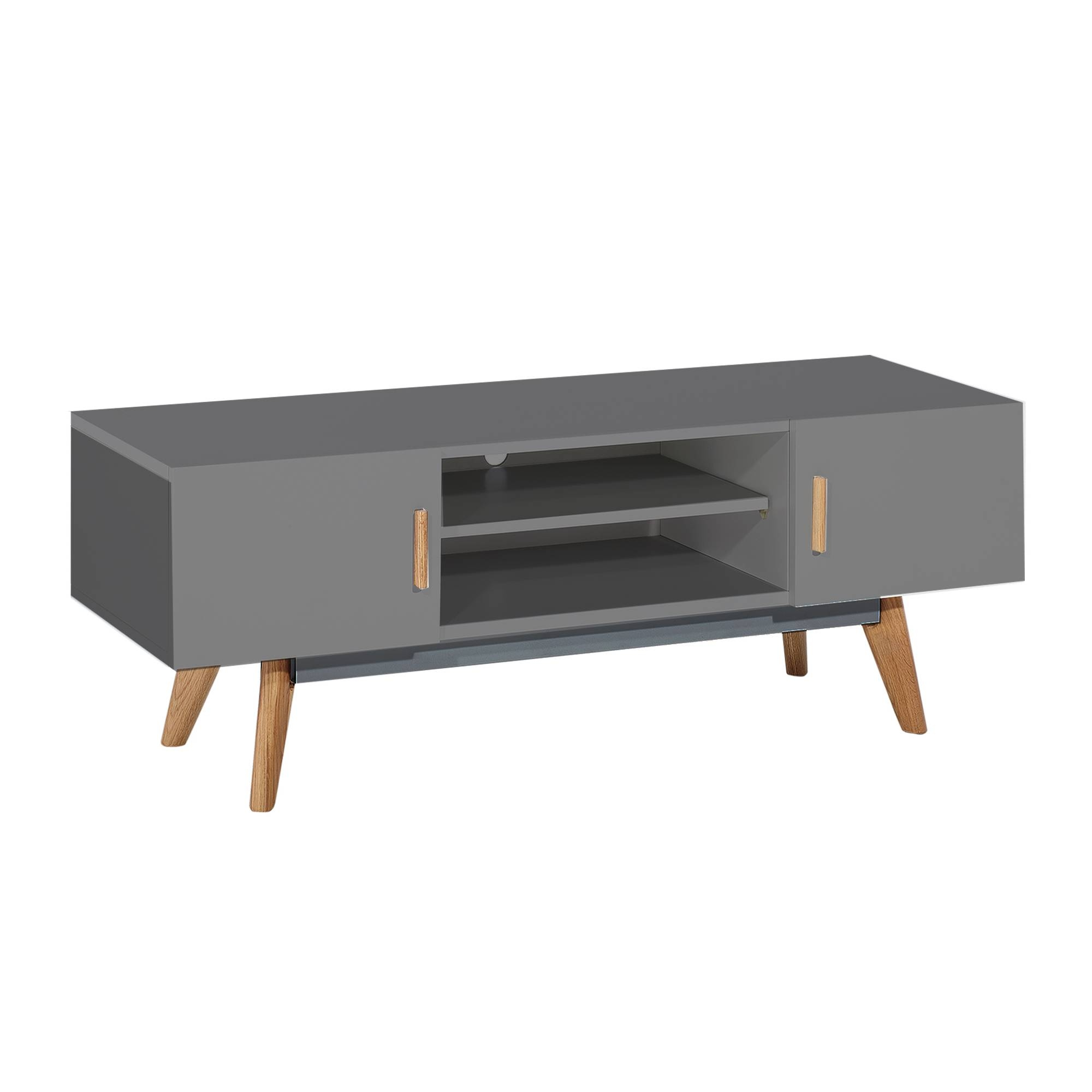 Stylish White Modern Tv Stand From Abreo Abreo Home Furniture for Grey Tv Stands (Image 11 of 15)