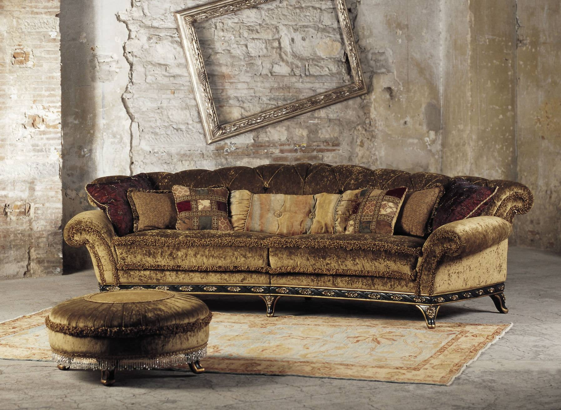 Sublime Classic Brown Velvet Large Wingback Traditional Sofas Feat inside Brown Velvet Sofas (Image 12 of 15)