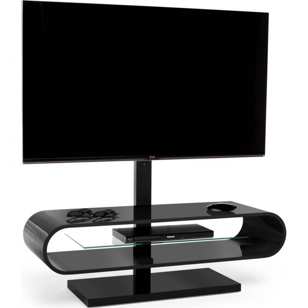 Suitable For Displays Up To 60 Inches; A Central Glass Shelf Is pertaining to Ovid White Tv Stand (Image 2 of 15)