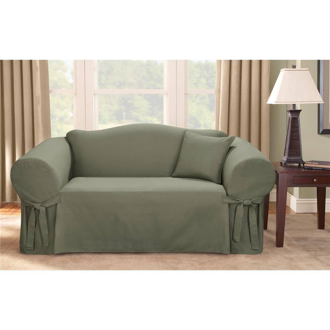 Sure Fit® Logan Sofa Slipcover - 292830, Furniture Covers At in Black Sofa Slipcovers (Image 14 of 15)