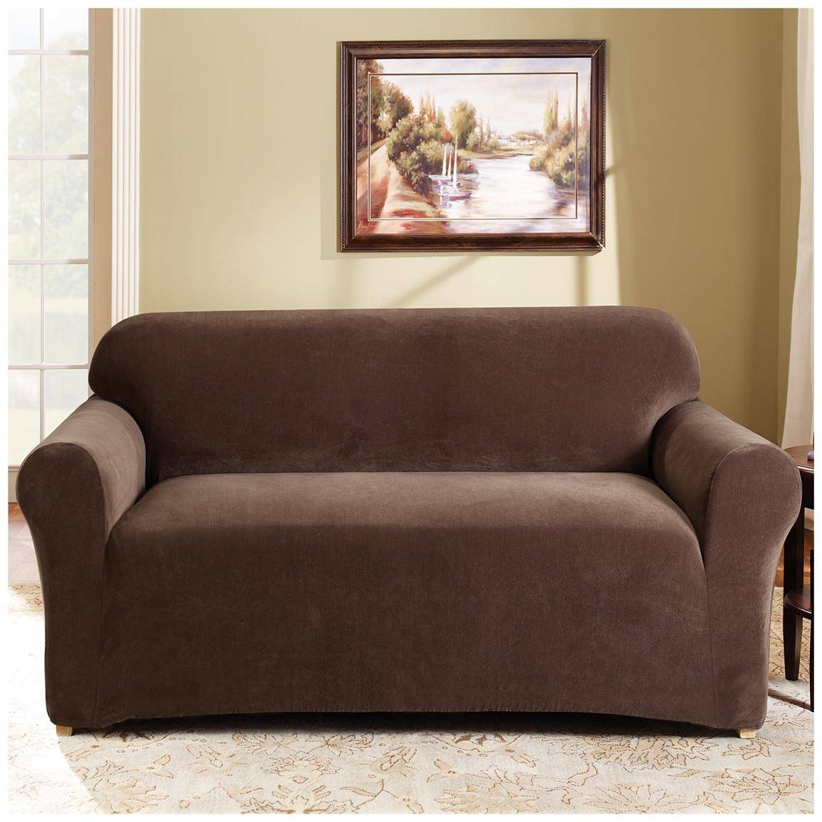 Sure Fit® Stretch Pearson Loveseat Slipcover - 292822, Furniture with Slip Covers For Love Seats (Image 14 of 15)