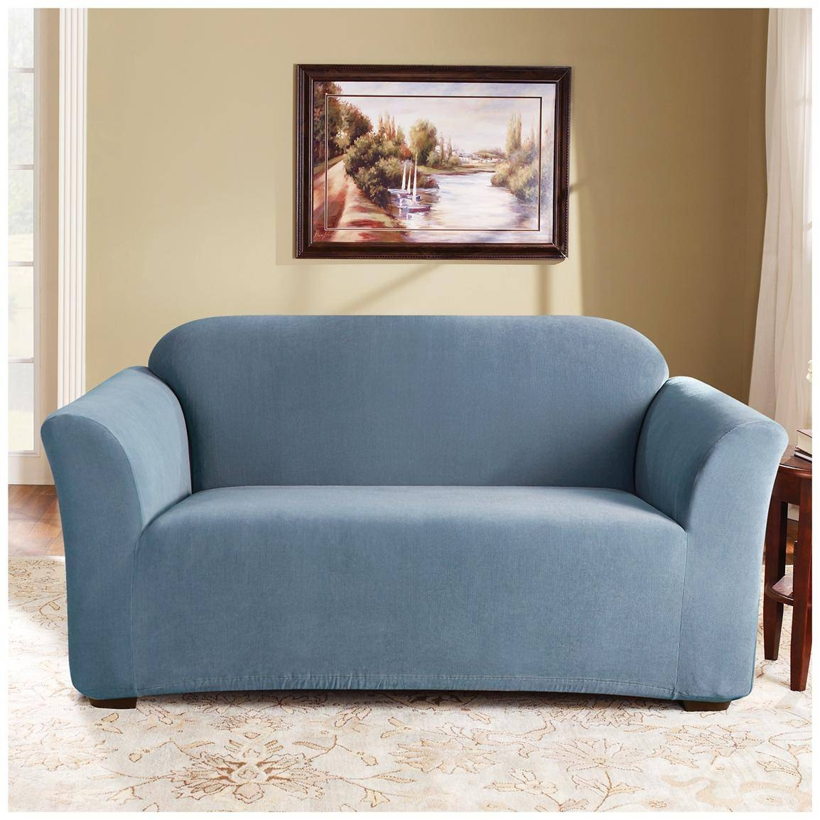 Sure Fit® Stretch Pearson Sofa Slipcover - 292823, Furniture within Stretch Slipcover Sofas (Image 15 of 15)