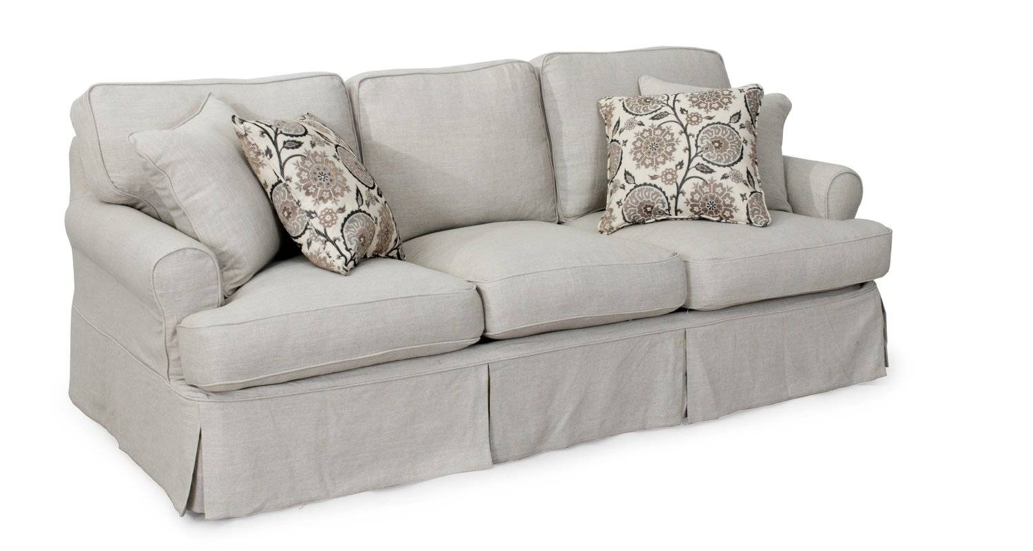 T Cushion Sofa Cover | Centerfieldbar Pertaining To T Cushion Slipcovers For Large Sofas (Photo 15 of 15)