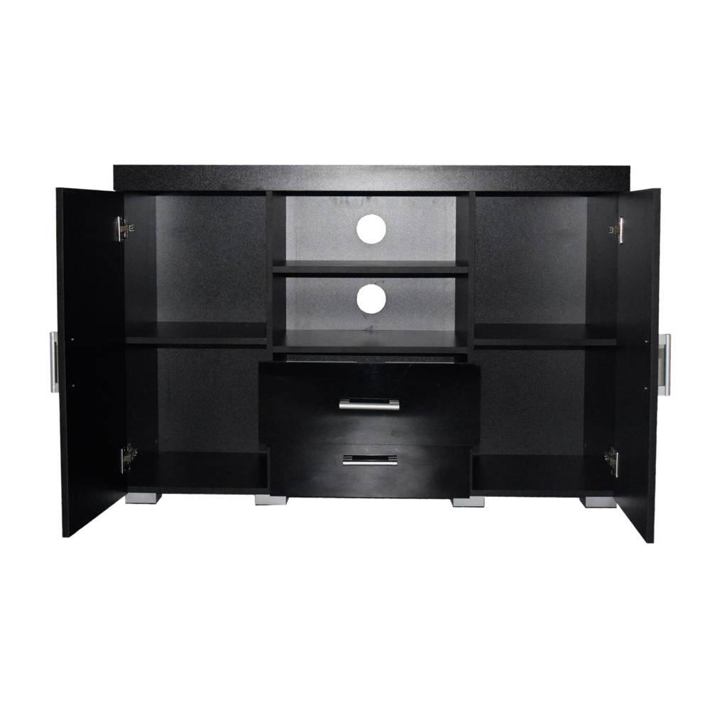 Tall Black Gloss White Tv Stand Entertainment Centre Sideboard 2 with Tall Black Tv Cabinets (Image 12 of 15)