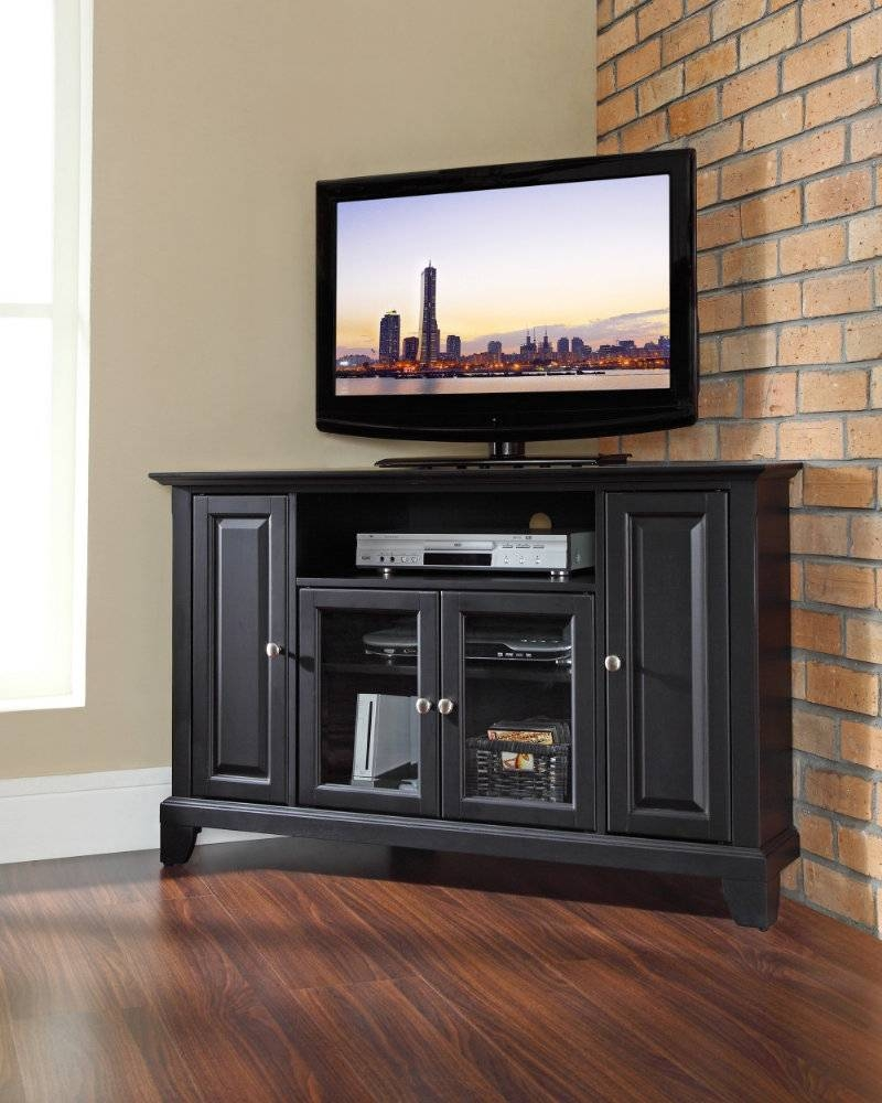 Tall Corner Tv Stand: Designs And Images | Homesfeed With Tall Tv Cabinets  Corner Unit