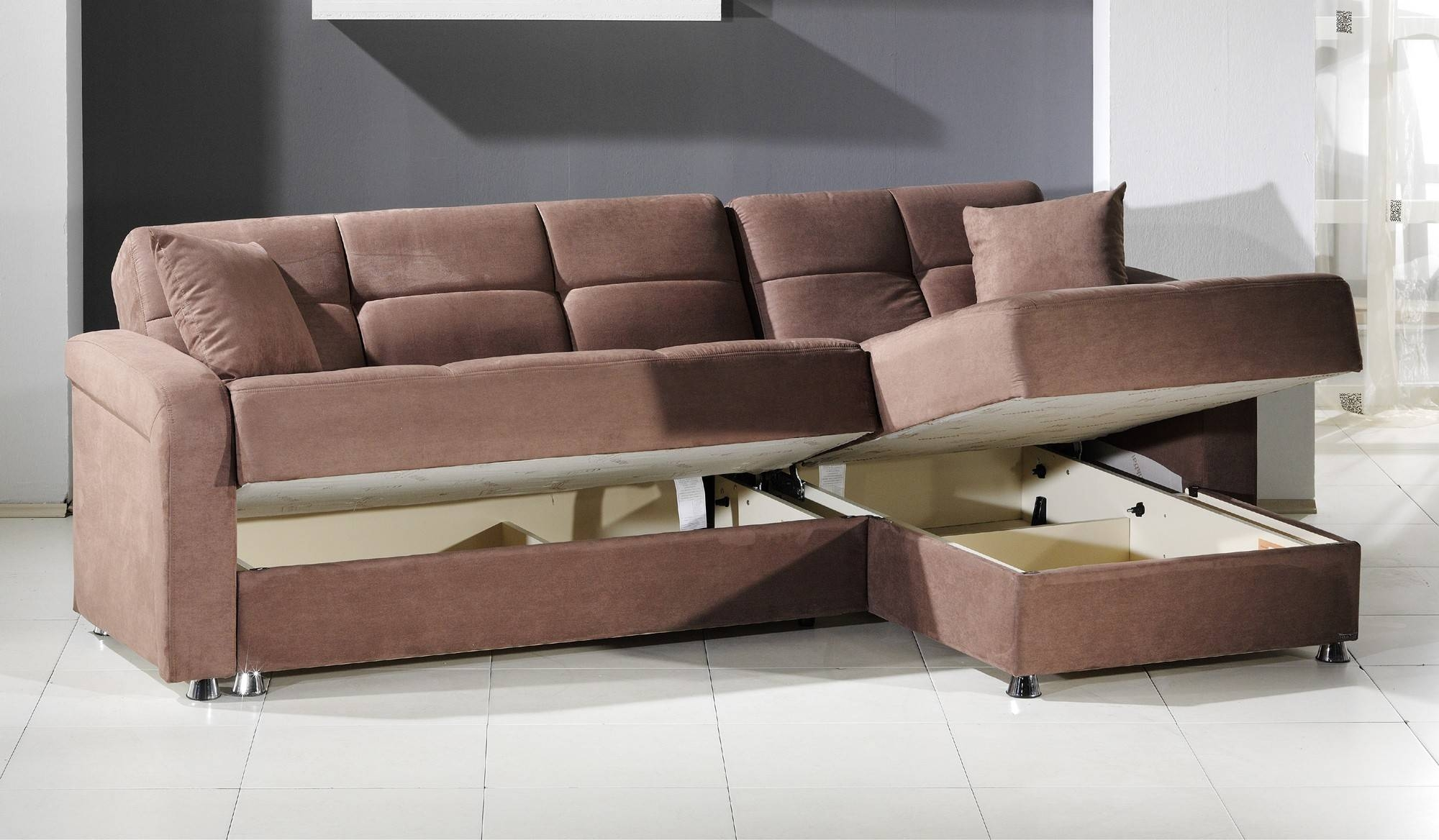 Tan Microfiber Sleeper Sofa | Centerfieldbar pertaining to Microsuede Sleeper Sofas (Image 15 of 15)