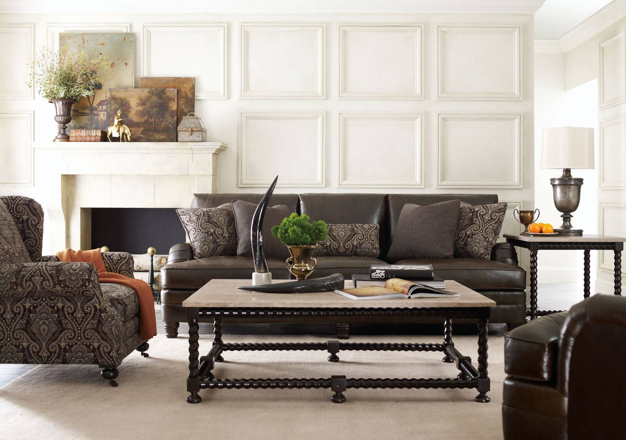 Tarleton Sofa, Justin Chair, Cordova Tables | Bernhardt within Bernhardt Tarleton Sofas (Image 15 of 15)