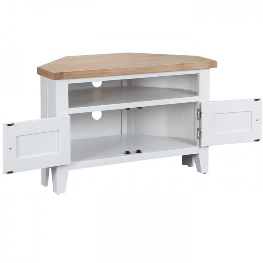 Taunton White Corner Tv Unit | Charlies Direct In White Corner Tv Cabinets (View 13 of 15)