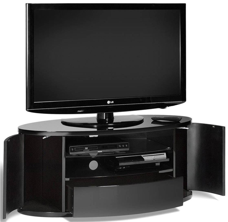 Techlink El3 Tv Stands for White High Gloss Corner Tv Unit (Image 7 of 15)