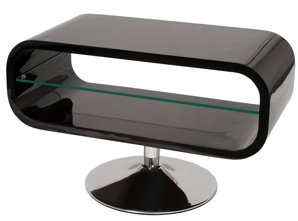 Techlink Op80B Tv Stands pertaining to White Gloss Oval Tv Stands (Image 9 of 15)