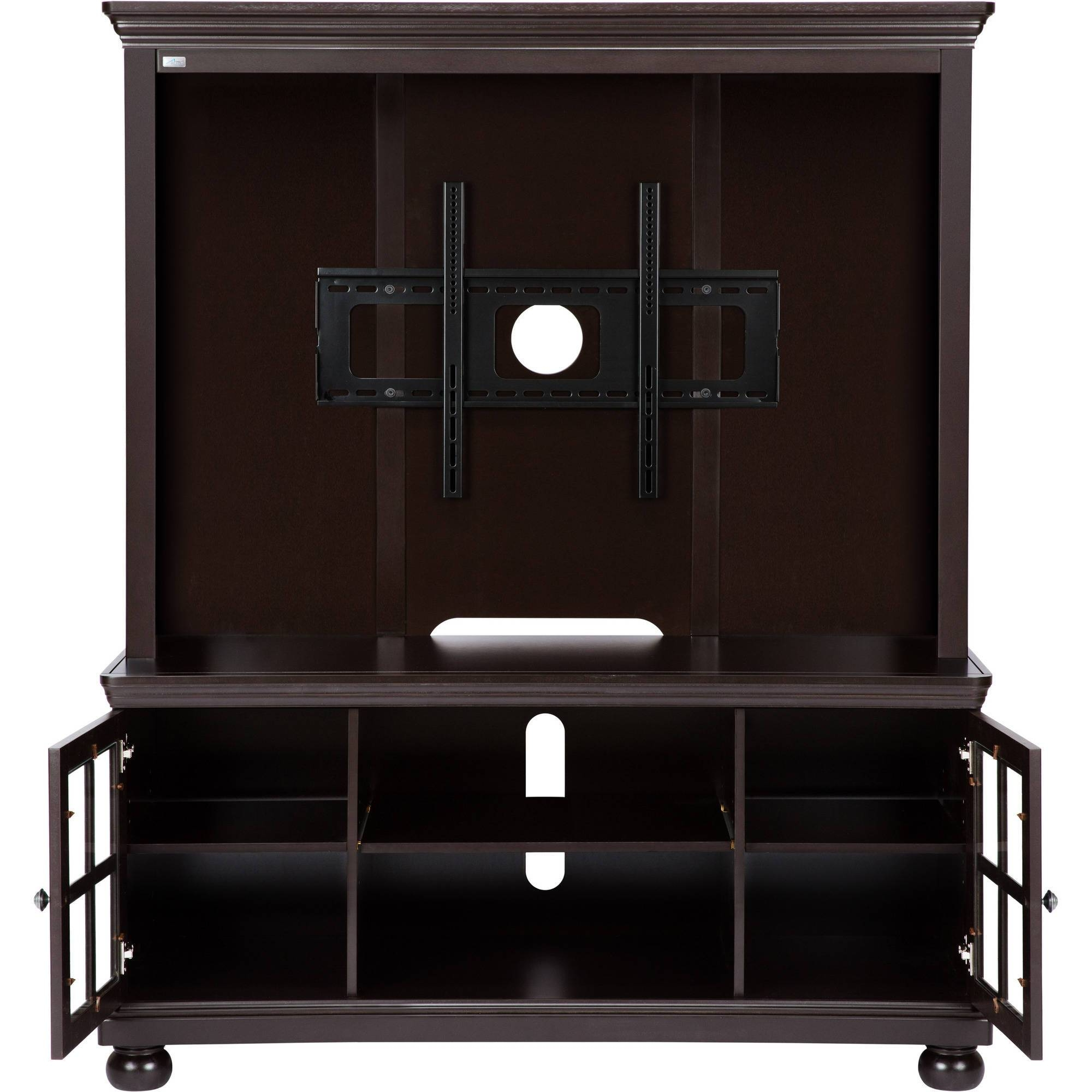 Television Hutch Contemporary Cappuccino Tv Console Hutch Wall regarding Cordoba Tv Stands (Image 6 of 15)