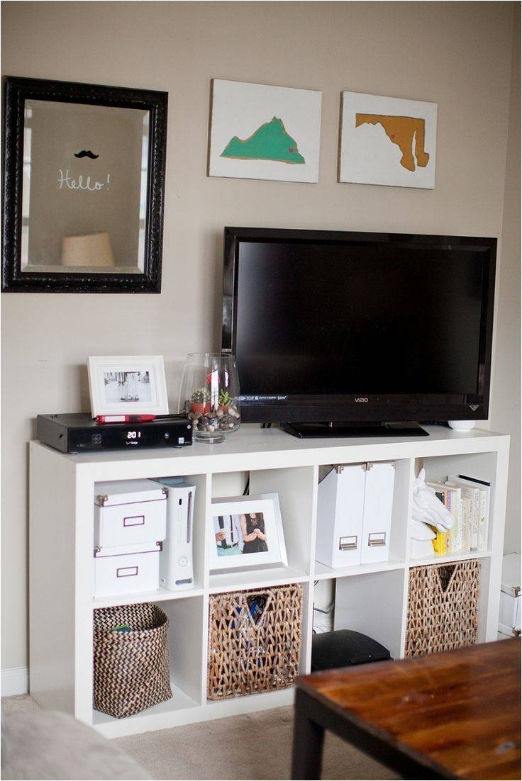 The 25+ Best Bedroom Tv Stand Ideas On Pinterest | Apartment inside Tv Stands With Baskets (Image 8 of 15)
