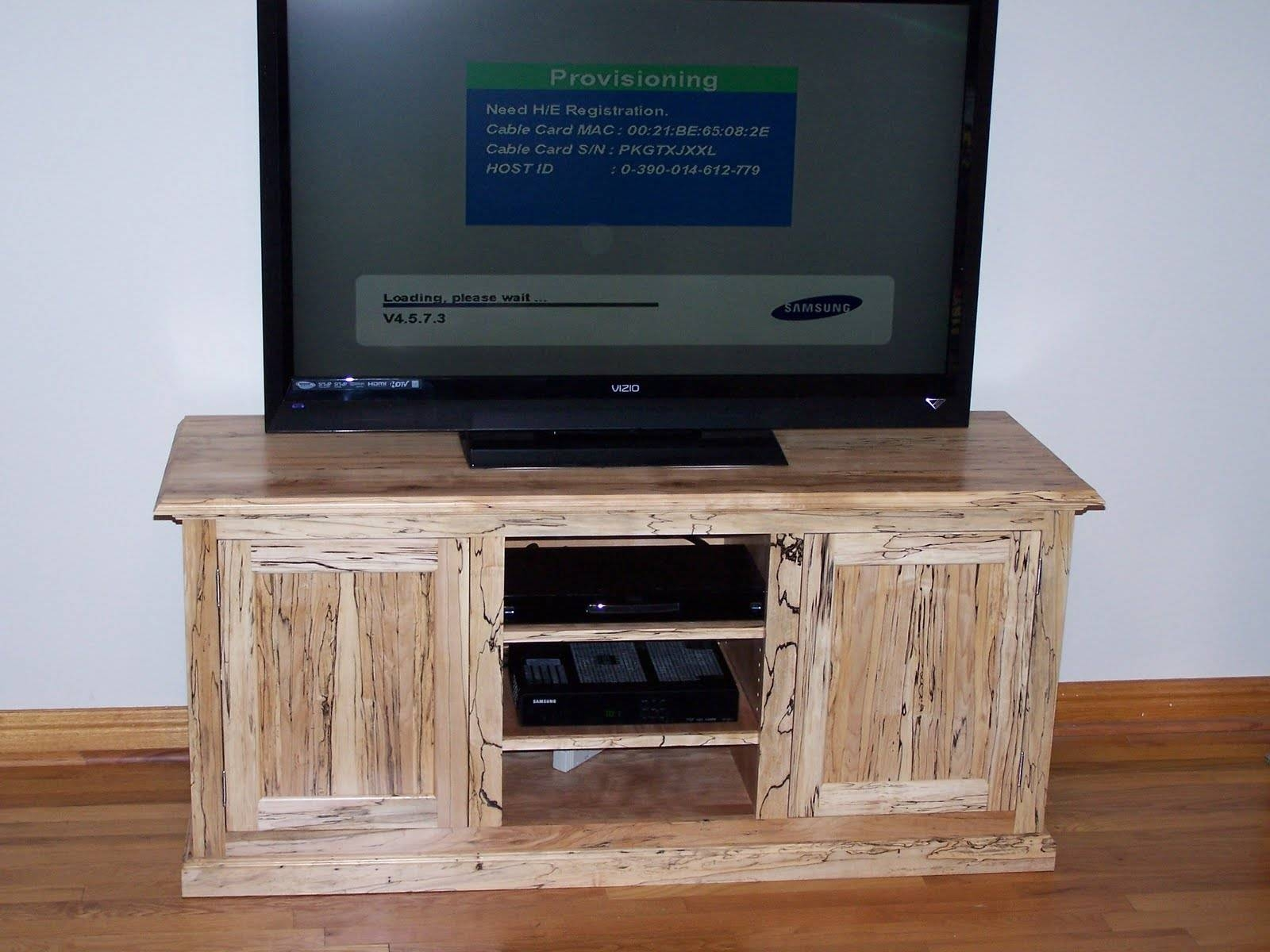 The Cabinet Works: Spalted Maple Tv Stand intended for Maple Tv Cabinets (Image 11 of 15)