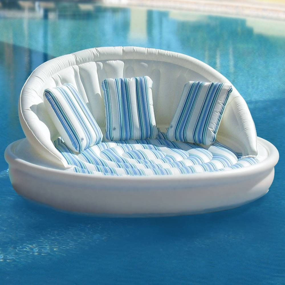 The Floating Sofa - Hammacher Schlemmer inside Floating Sofas (Image 15 of 15)