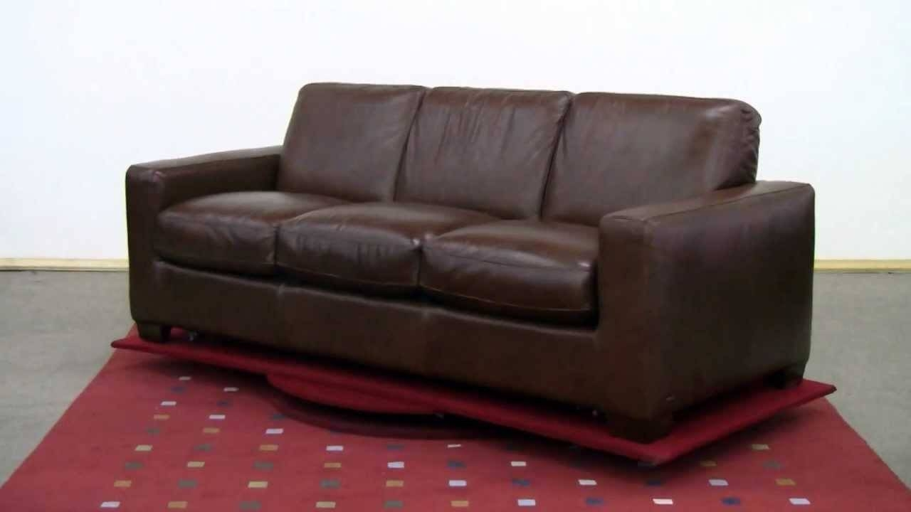 The Rubicon (B534) Queen Leather Sleeper Sofanatuzzi Editions for Natuzzi Sleeper Sofas (Image 15 of 15)
