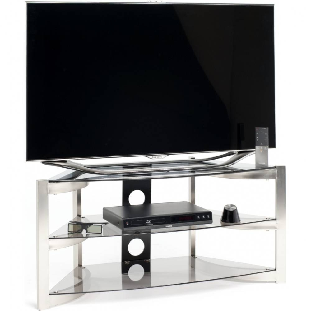Three Generous Glass Shelves; Screens Up To 50 intended for Techlink Corner Tv Stands (Image 11 of 15)