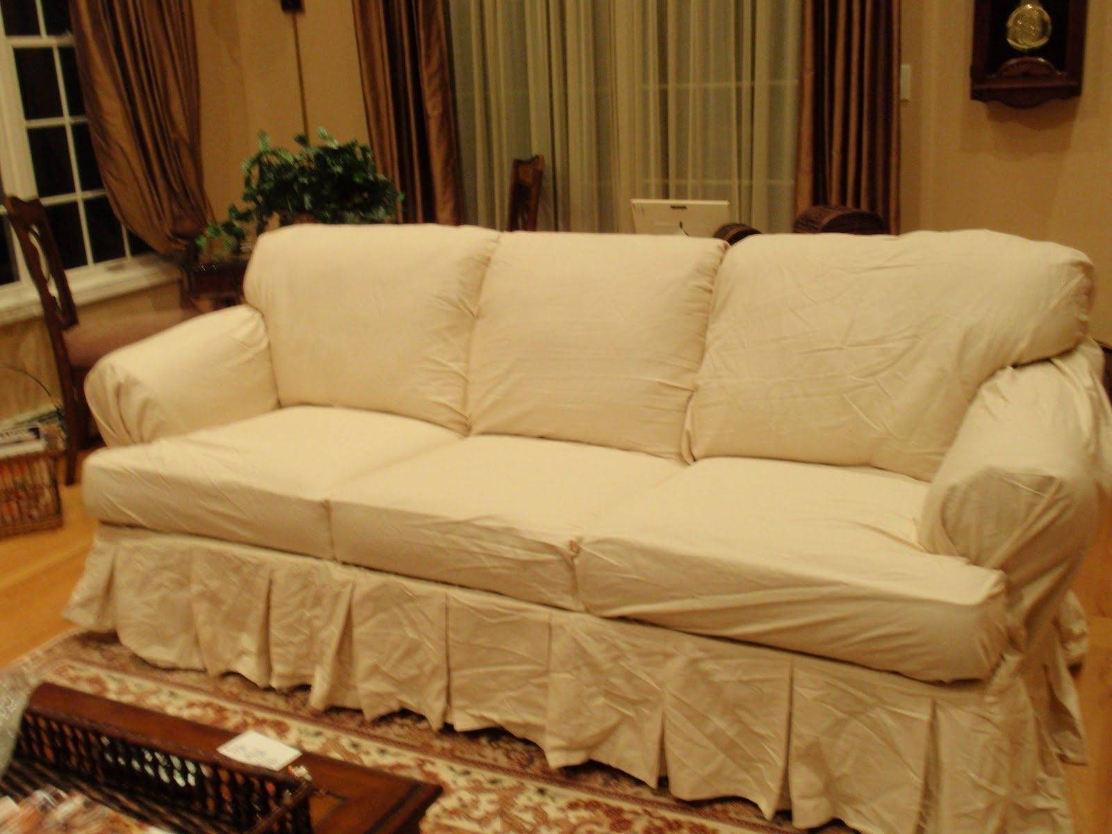Tips: Smooth And Comfort Slipcovers For Sectional Couches Design For Slipcovers For 3 Cushion Sofas (View 13 of 15)