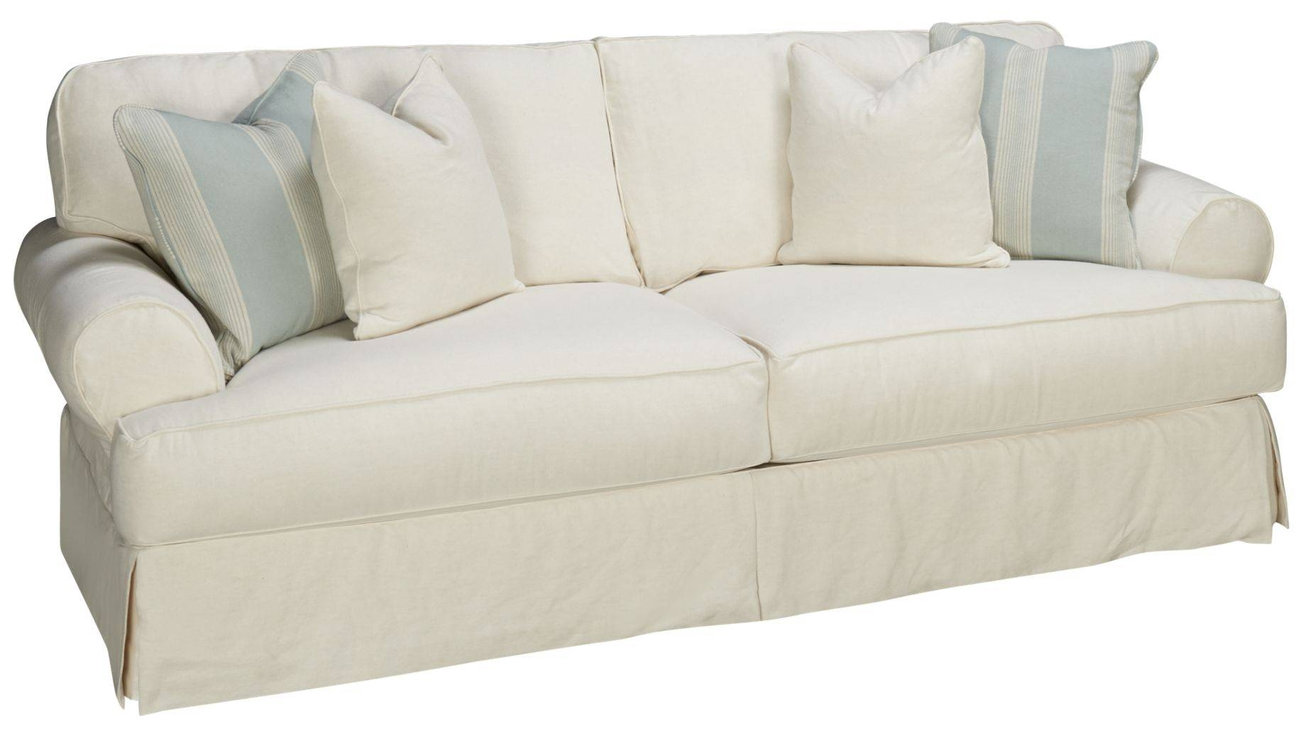 Tips: Smooth Slipcovers Sofa For Cozy Your Furniture Ideas With Slipcovers For 3 Cushion Sofas (Photo 7 of 15)