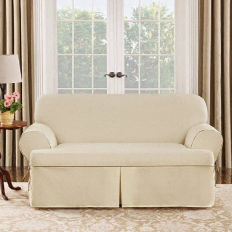 Tips: Soft T Cushion Chair Slipcovers For Elegant Interior within T Cushion Slipcovers for Large Sofas (Image 15 of 15)