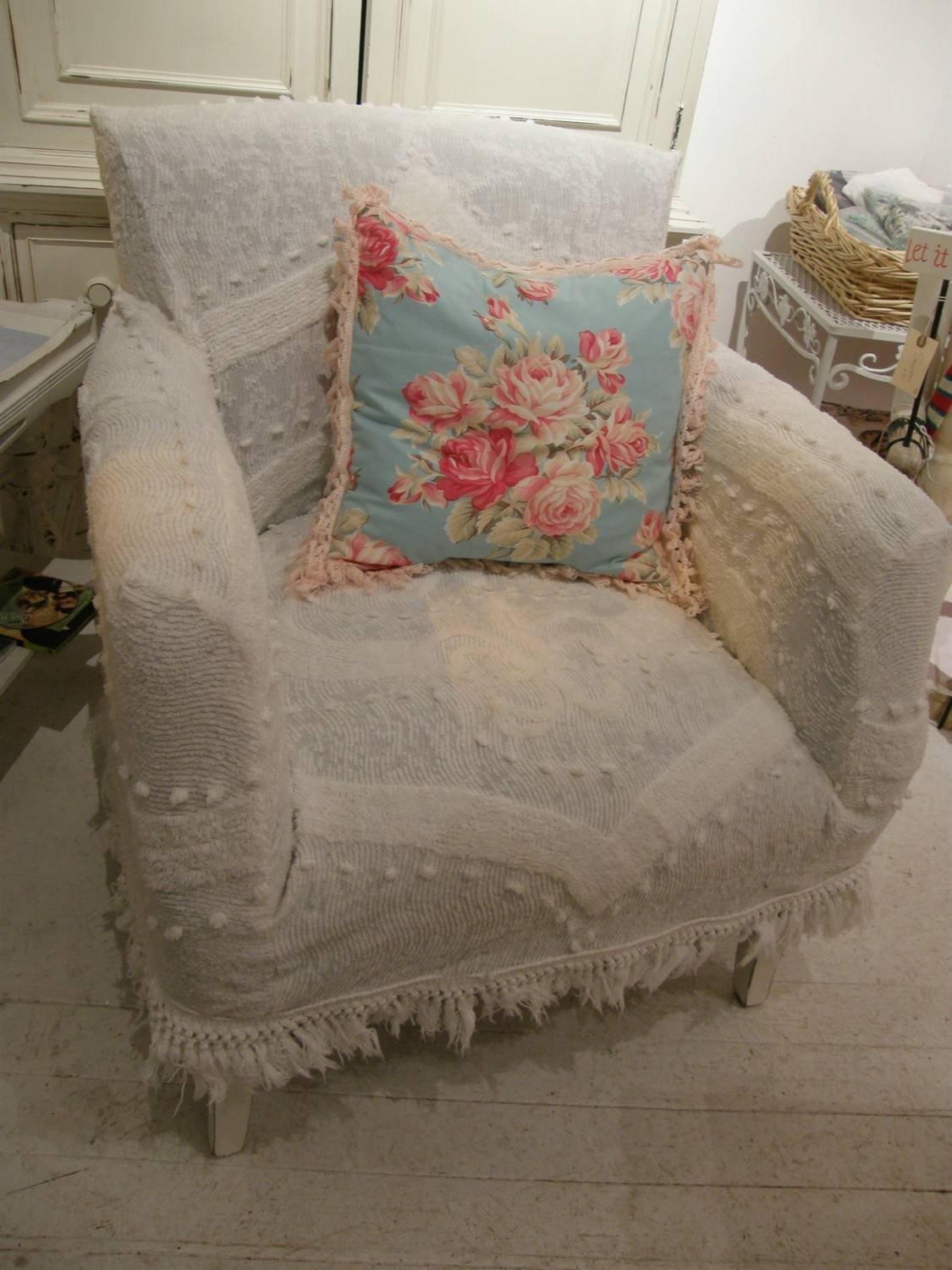 Tips: T Cushion Chair Slipcovers | Armchair Slipcover | Slip With Shabby Chic Sofas Covers (View 13 of 15)