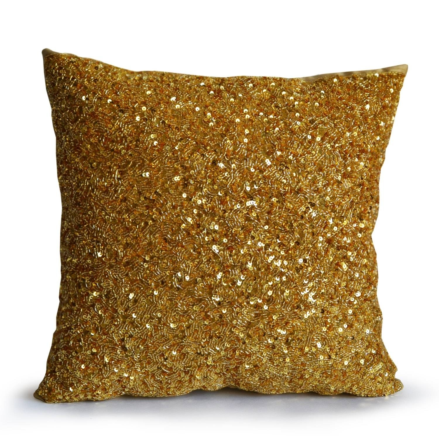Top Gold Throw Pillows With Arrows Pillow Cover Throughout Top throughout Gold Sofa Pillows (Image 15 of 15)