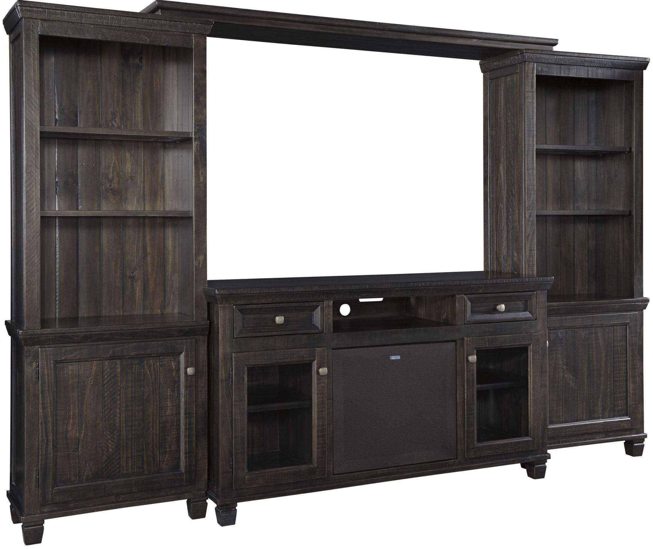 Townser Waxy Grayish Brown Large Tv Stand From Ashley | Coleman regarding Large Tv Cabinets (Image 15 of 15)