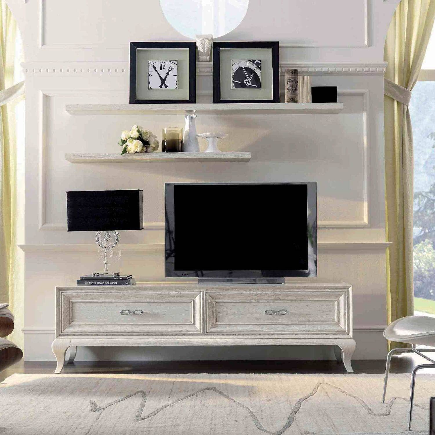 Traditional Tv Cabinet / Lacquered Wood – 9007 F1 – Mozzo Giorgio Within Traditional Tv Cabinets (View 5 of 15)