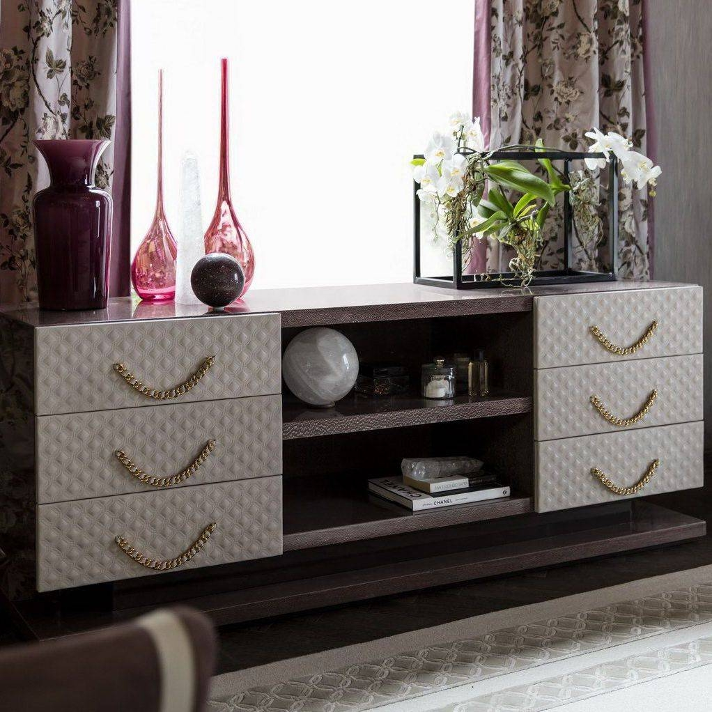 Traditional Tv Cabinet / Wooden / Leather – 4657cs – Colombo Stile Throughout Traditional Tv Cabinets (View 8 of 15)