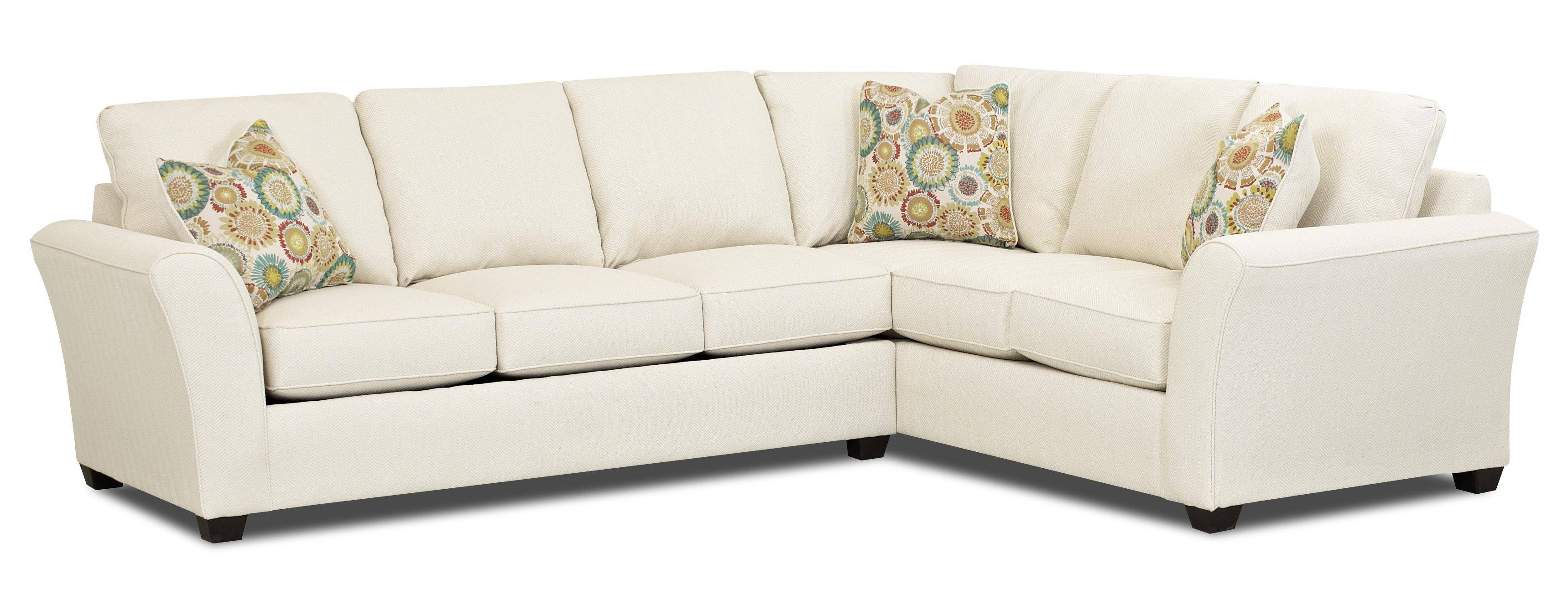 Transitional Sectional Sleeper Sofa With Dreamquest Mattress in Short Sectional Sofas (Image 15 of 15)