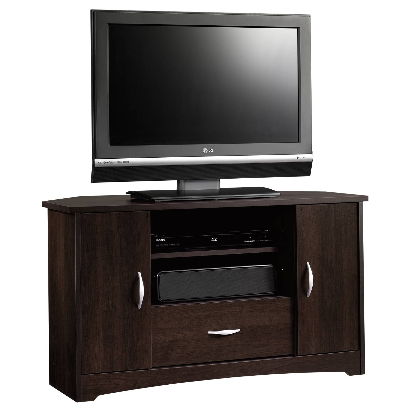 Tremendous Flat Screens New Teak Furnitures As Wells As Flat within Corner Tv Stands With Drawers (Image 13 of 15)