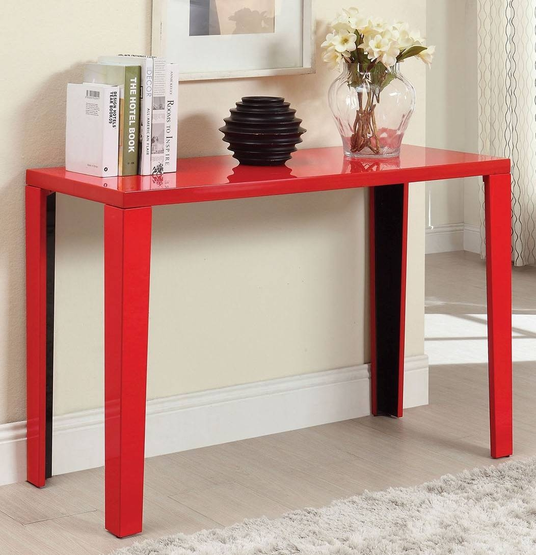 Trend Red Sofa Table 91 In Contemporary Sofa Inspiration With Red inside Red Sofa Tables (Image 15 of 15)