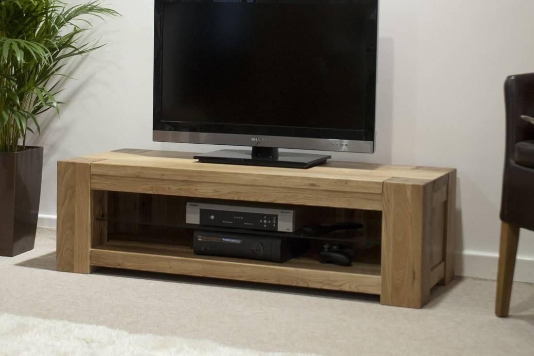 Trend Solid Oak Plasma/tv Unit | Oak Furniture Uk throughout Contemporary Oak Tv Stands (Image 10 of 15)